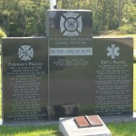 "A piece of the World Trade Center to honor the 343 ""brothers"" who paid the ultimate sacrifice on 9/11 is situated in front of the Calvert County Volunteer EMS and Firefighter memorial."